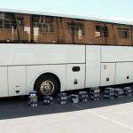 توقیف اتوبوس حامل ۳ میلیارد ریال کالای قاچاق در بناب