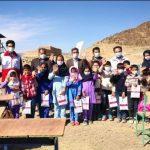 توزیع اقلام کمکی بین دانش آموزان روستای قره زکی
