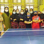 درخشش دختران پینگ پنگ باز بناب در مسابقات آزاد تنیس روی میز بانوان استان